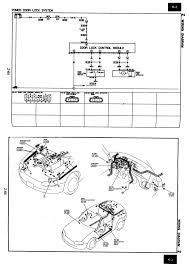 central locking mx5 mk2 2 1 8 sport electrics & ice mx 5 Central Locking Wiring Diagram door locking diagram and drawing show wiring diagram central locking saab 9-3