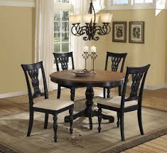 charming dining room furniture mirror curved pedestal counter drop leaf black round table set red wood
