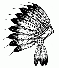 Native American Feathers Hat Coloring Page