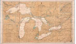 Great Lakes Navigation Charts General Chart Of The Great Lakes Map And Data Library