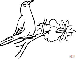 Small Picture Pigeon Stands On Tree coloring page Free Printable Coloring Pages