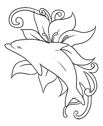 Small Picture The Dolphin Was Playing In In A Sea Of Flowers Coloring Page