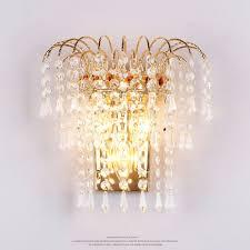 E14 Wall Lights Modern Art High Grade Crystal E14 Wall Lamp Creative
