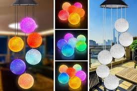 solar colour wind chime lights