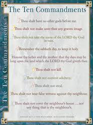 10 Commandments Chart Kjv Ten Commandments Laminated Wall Chart