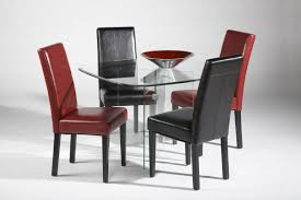 Red Dining Room Chairs Chair Shop Tms Furniture Retro Red Dining Set With Round Table At