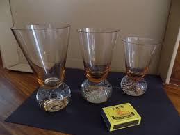 set of art deco drinking glassware