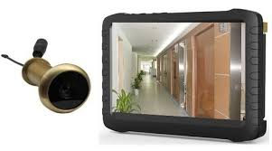 front door video cameraWireless Front Door Peephole Camera With 5 Hd Lcd Screen Monitor