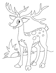 Small Picture Happy deer coloring page Download Free Happy deer coloring page