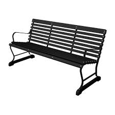 black and black plastic outdoor patio bar bench
