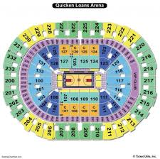 Concert Seating Chart Quicken Loans Arena Pin Di Seating Chart