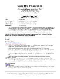 home inspection report template sample home inspection report