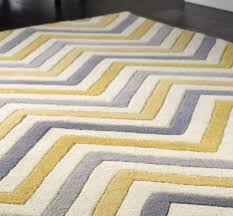 image of stripe grey and yellow rug