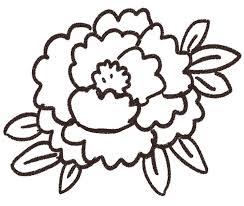 牡丹のイラスト花 ゆるかわいい無料イラスト素材集