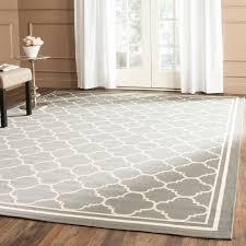 Safavieh Dark Grey/ Beige Indoor Outdoor Rug (8' x 11'2) - Free Shipping  Today - Overstock.com - 14099333