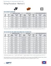 Seal Size Chart Link Seal Modular Seals Century Line Sleeves Cell Cast