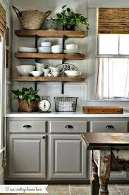gray cabinets with rough wood shelving makes a great combo in this kitchen 5 trends for bathroom corner shelving storage unit wooden