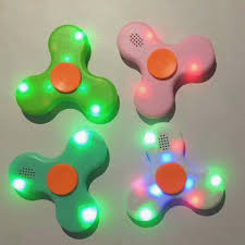 Fidget Spinner With Bluetooth Speaker And Lights Tri Hand Fidget Spinner With Bluetooth Speaker And Led Light