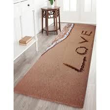beach style c velvet antislip bathroom rug light brown w16 inch l47 inch