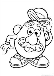 Small Picture Mr Potato Head Coloring Pages 54 kid crafts Pinterest Mr