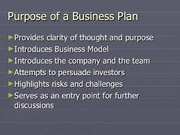 Explain the purpose of a business plan