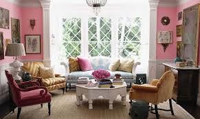 Pink Living Room Accessories Eclectic Living Room Decor