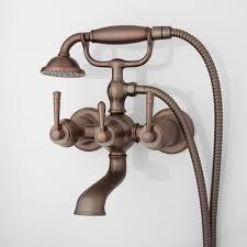 brunswick wallmount tub faucet  hand shower  bathroom