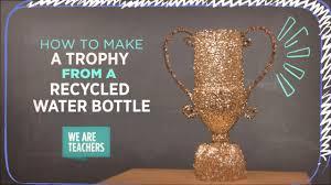 recycling diy plastic bottle trophy