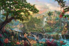 2019 thomas kinkade landscape the jungle book oil painting reion high quality giclee print on canvas modern home art decor272 from xmqh2017