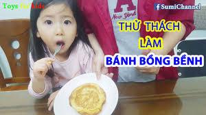 Bé Sumi Với Thử Thách Làm BÁNH BỒNG BỀNH Vào Bếp Thú Vị Cùng Mẹ Và Sumi -  YouTube