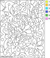Coloring : Best Color By Number Images On Pinterest Numbers ...