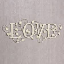 blooms of love word wall art ivory gold click to expand on metal wall art words love with blooms of love metal word wall art