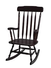 image of black wood rocking chair for nursery