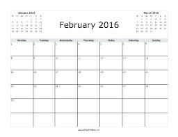 Empty Calendar Template 2015 2015 Calendar Template February Woodnartstudio Co