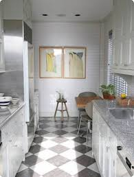 Gray Kitchen Floors The Gray And White Floor Is More Calming Than The Stark Black And