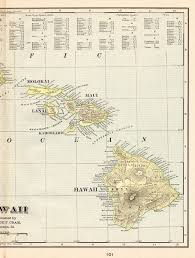 1901 antique hawaii map gallery wall
