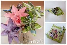 How To Make Origami Paper Flower Making An Origami Paper Flower Thriftyfun