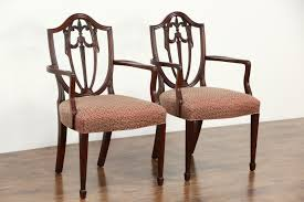SOLD Pair Of Kindel Winterthur Signed Shield Back Dining Or - Shield back dining room chairs