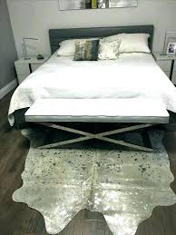 metallic cowhide rug wonderful silver client loved his grey zebra meta