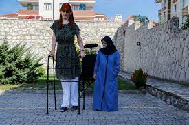 World's tallest woman Rumeysa says it's OK to stand out