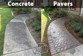 patio pavers over concrete advantages