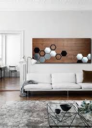 metal art wood wall art geometric wall