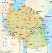tanzania map map of tanzania