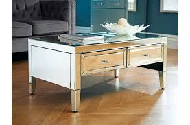 mirrored 2 drawer coffee table end dressing