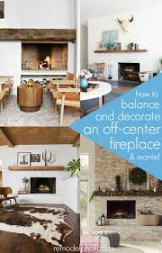Decorating around an off-center fireplace @Remodelaholic | Living ...
