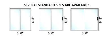 standard sliding glass door sliding glass door sizes patio measurements standard sliding glass door height
