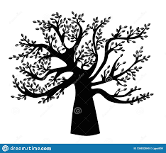 Template Tree Black Family Tree Template Stock Vector Illustration Of