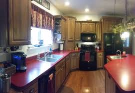 Red country kitchens Wood Cabinet Black Appliance Ndl Construction Llc K Hickory Red Country Kitchen Ndl Construction Llc
