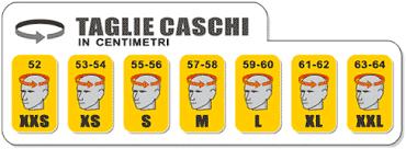 Risultati immagini per selezione taglie casco