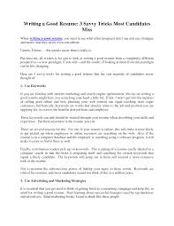 Exclusive Design Writing A Good Resume 1 How To Write Cv Classy
